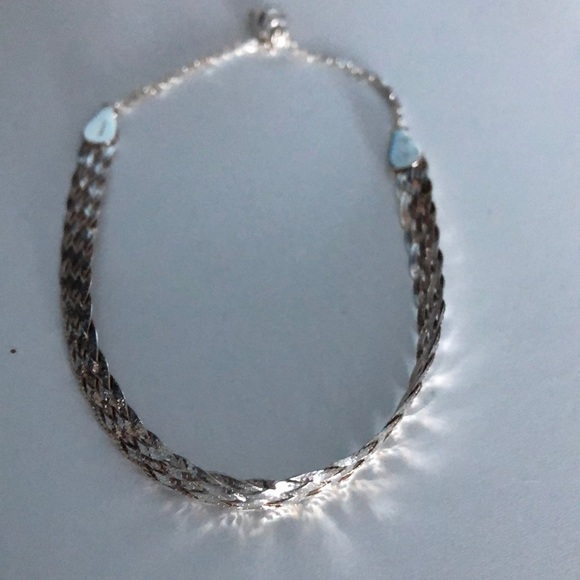 Braided sterling silver bracelet